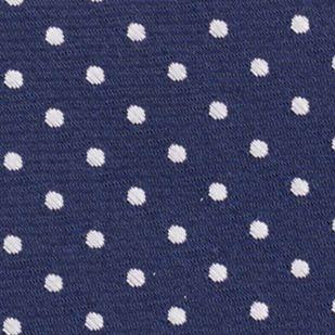 Mens Designer Ties: Navy Nautica Mast Dot Tie