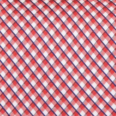 Young Mens Neckties: Red Nautica Helm Check Tie