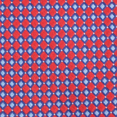 Young Mens Neckties: Red Nautica Flagship Geo Tie