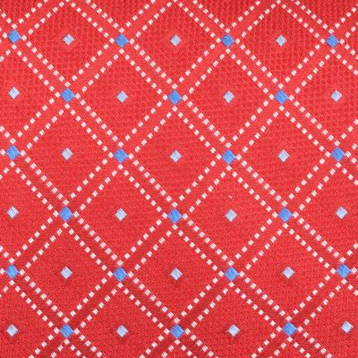 Young Mens Neckties: Red Nautica Shoal Geometric Tie