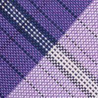 Mens Designer Ties: Purple Nautica Waves Plaid Tie