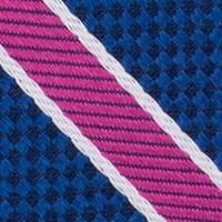 Mens Designer Ties: Purple Nautica Anchor Stripe Tie