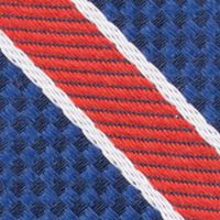 Young Mens Neckties: Red Nautica Anchor Stripe Tie