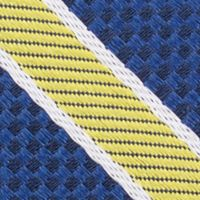 Young Mens Neckties: Yellow Nautica Anchor Stripe Tie