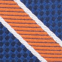 Young Mens Neckties: Orange Nautica Anchor Stripe Tie