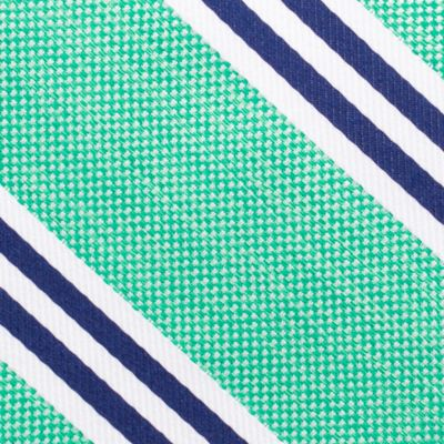 Young Mens Neckties: Green Nautica Bilge Stripe Tie