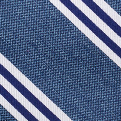 Young Mens Neckties: Navy Nautica Bilge Stripe Tie