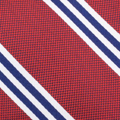 Young Mens Neckties: Red Nautica Bilge Stripe Tie