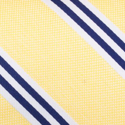 Young Mens Neckties: Yellow Nautica Bilge Stripe Tie