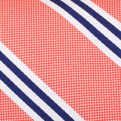 Young Mens Neckties: Orange Nautica Bilge Stripe Tie