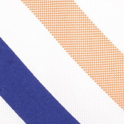 Young Mens Neckties: Orange Nautica Fairlead Stripe Tie
