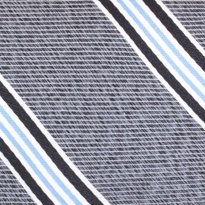 Young Mens Neckties: Black Nautica Heel Stripe Tie