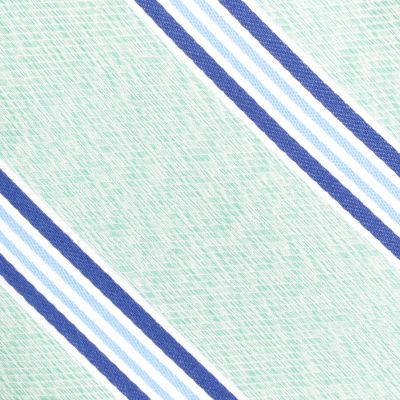 Young Mens Neckties: Green Nautica Heel Stripe Tie