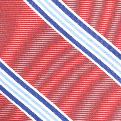 Men: Neckties Sale: Red Nautica Heel Stripe Tie