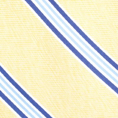 Young Mens Neckties: Yellow Nautica Heel Stripe Tie