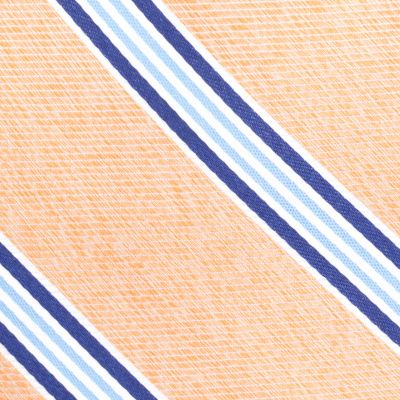 Young Mens Neckties: Orange Nautica Heel Stripe Tie
