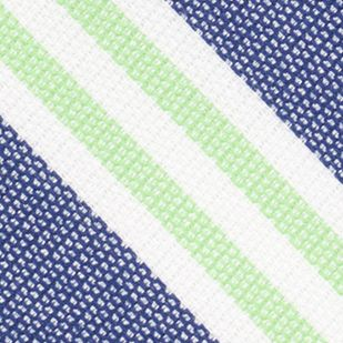 Young Mens Neckties: Green Nautica League Stripe Tie