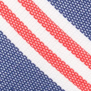 Young Mens Neckties: Red Nautica League Stripe Tie