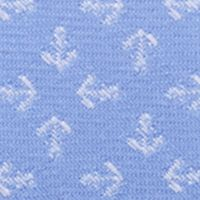 Young Mens Neckties: Light Blue Nautica Tossed Anchor Neat Tie