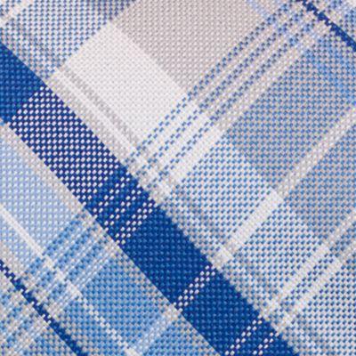 Mens Designer Ties: Silver Nautica Maynard Plaid Tie