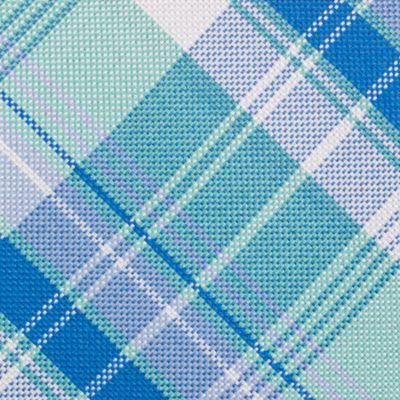 Mens Designer Ties: Mint Nautica Maynard Plaid Tie
