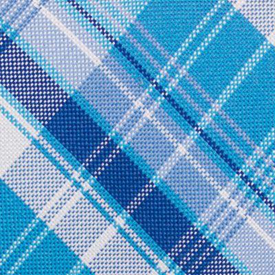 Mens Designer Ties: Aqua Nautica Maynard Plaid Tie