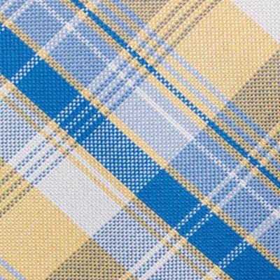 Mens Designer Ties: Yellow Nautica Maynard Plaid Tie