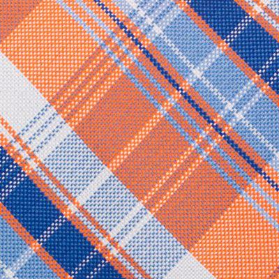 Mens Designer Ties: Orange Nautica Maynard Plaid Tie