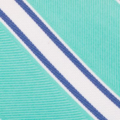 Mens Designer Ties: Mint Nautica Welch Stripe Tie