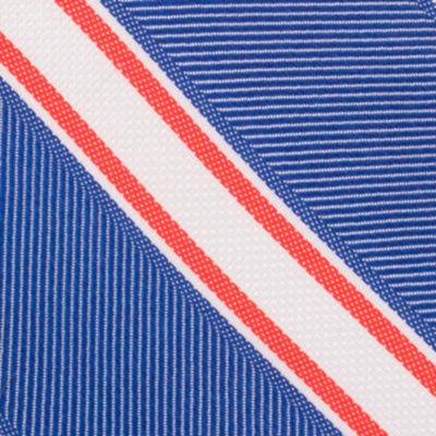 Mens Designer Ties: Blue Nautica Welch Stripe Tie