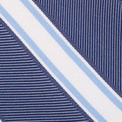 Mens Designer Ties: Navy Nautica Welch Stripe Tie
