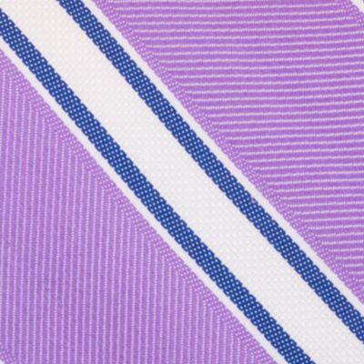 Mens Designer Ties: Purple Nautica Welch Stripe Tie