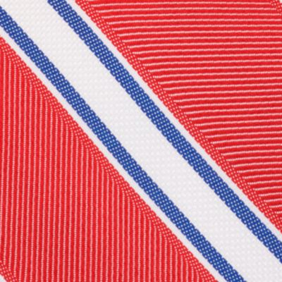 Mens Designer Ties: Red Nautica Welch Stripe Tie