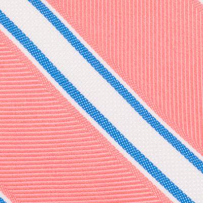 Mens Designer Ties: Coral Nautica Welch Stripe Tie