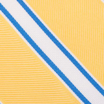 Mens Designer Ties: Yellow Nautica Welch Stripe Tie