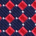 Mens Designer Ties: Red Nautica Parker Neat Tie