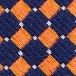 Mens Designer Ties: Orange Nautica Parker Neat Tie