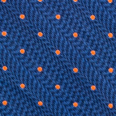 Mens Designer Ties: Orange Nautica Cushing Dot Tie