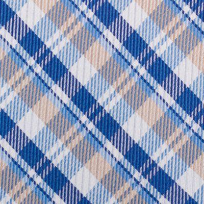 Mens Designer Ties: Taupe Nautica Stockton Plaid Tie