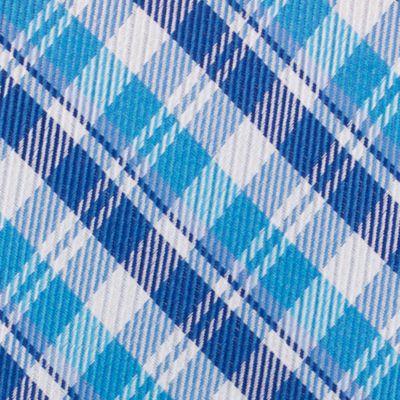 Mens Designer Ties: Aqua Nautica Stockton Plaid Tie