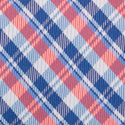 Mens Designer Ties: Coral Nautica Stockton Plaid Tie