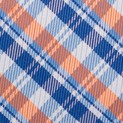 Mens Designer Ties: Orange Nautica Stockton Plaid Tie