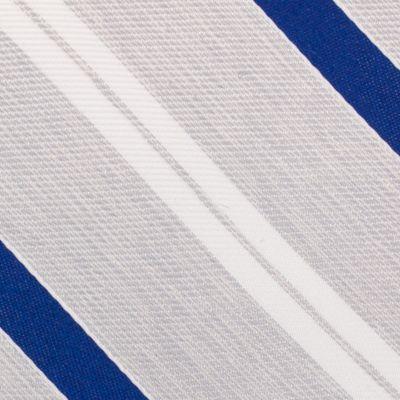 Mens Designer Ties: Silver Nautica Rogers Stripe Tie
