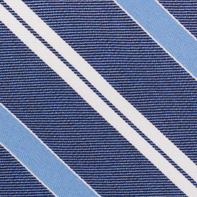 Mens Designer Ties: Navy Nautica Rogers Stripe Tie