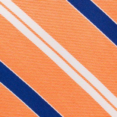 Mens Designer Ties: Orange Nautica Rogers Stripe Tie