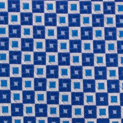 Mens Designer Ties: Blue Nautica Adams Neat Tie
