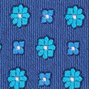 Mens Designer Ties: Blue Mist Nautica Biscay Neat Tie