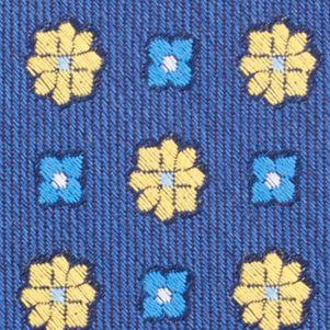 Mens Designer Ties: Yellow Nautica Biscay Neat Tie