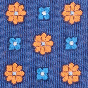 Mens Designer Ties: Orange Nautica Biscay Neat Tie