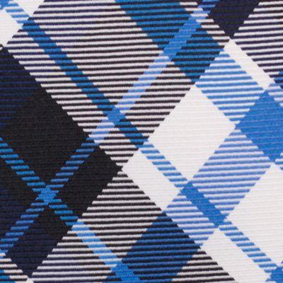 Mens Designer Ties: Black Nautica Camotes Plaid Tie